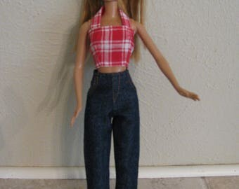 Barbie doll clothes-jeans and top