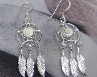 Lucia eye on Sterling Silver earrings