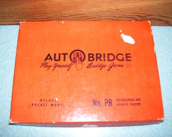 Vintage Auto Bridge Play Yourself bridge game