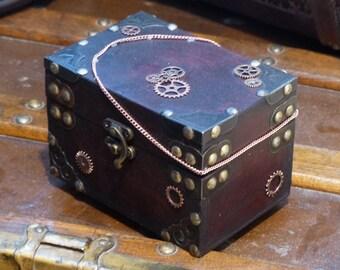 A Gizmologist's Jewelry Box Treasure Chest Gear Cog Chain
