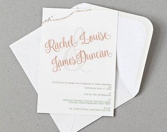 Love Birds Wedding Invite, RSVP, Information card Personalised