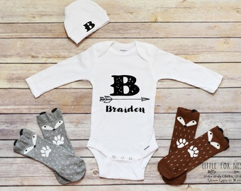 Baby Boy Outfit, Personalized Baby Gift, Baby Boy Clothes, Boy Onesie®, Personalized Boy Shirt
