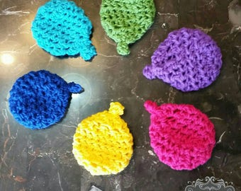 Crochet eco friendly water balloons!! Set of 6 ready to ship