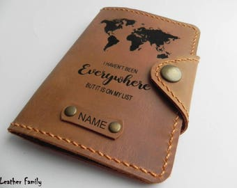 Leather Passport Cover/ Travel Passport holder/Personalized Passport Case/Adventure Gift/Passport Wallet