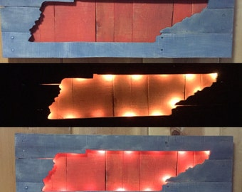 University of Tennessee wall hanging with LED lights