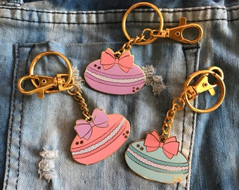 Macaron Enamel Bag Charm Keychain