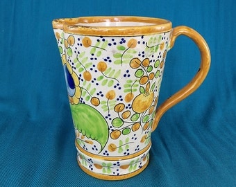 Spanish Pottery Pitcher Vintage 1930s