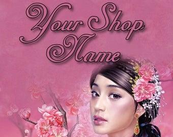 Shop Banner Set, Shop Banner, Custom Banner, Premade Banner, Cover Photo, Banner Design, Fantasy Banner Set, Cherry Blossom Banner,