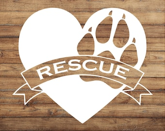 Love Your Rescue | Dog Adoption Sticker | Foster Decal | Adopt Don't Shop Decal | Love Sticker | Volunteer Decal | Yeti Decal | Door Decal