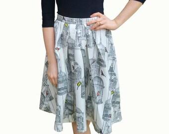 Birdcage pleated skirt
