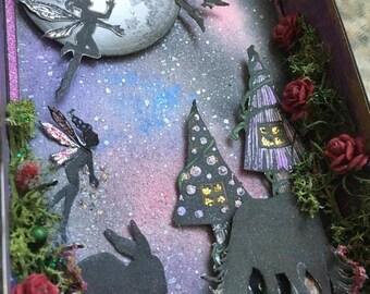 Fantasy Matchbox /Diorama/ Fairy//unicorn/gift/handmade