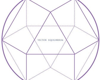 Vector Equilibrium, Seed of Life, Metatron's Cube, Crystal Grid Template