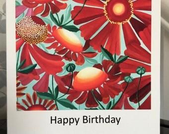 Heleniums Greetings Card
