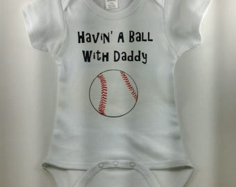 Baseball Baby - Baseball Baby Clothes - Baseball Baby Boy-Baby Boy Clothes-Custom Baby Clothes-Sports Baby-Baseball Jersey-Havin' a Ball