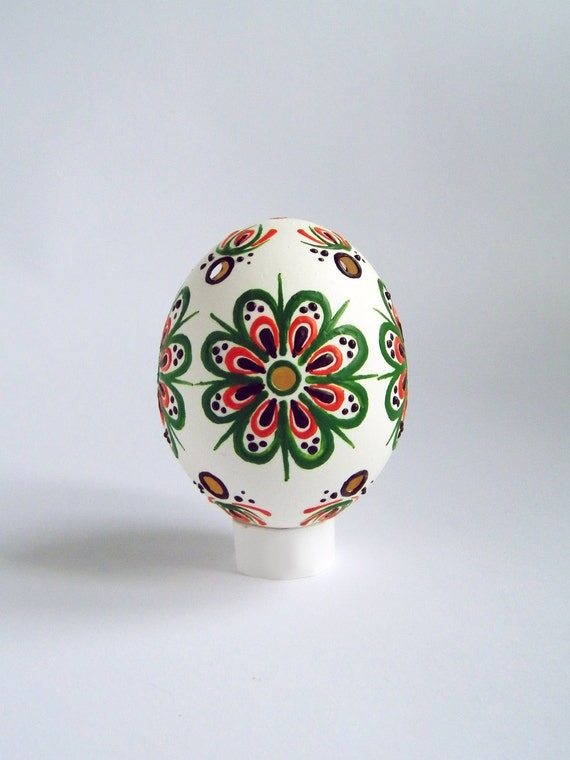Easter Egg Free Shipping Wax Decorated White Lace Egg Kraslice