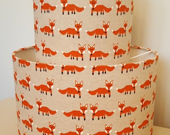Foxy Drum Lampshade - handmade lamp shades in 3 sizes!