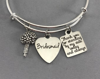 Bridesmaid Gift Ideas - Set of 6 Bracelets - Personalized Jewelry - Wedding Party Gifts - Bridesmaid Gift - Bridesmaid Jewelry