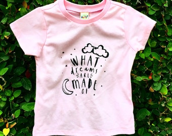 Infant Shirt, Mischief Threads, What Dreams Are Made Of, Toddler Shirts, Boy Shirts, Girl Shirts, Graphic Tee, Kids Clothes
