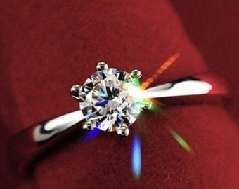 CZ  ring solitaire