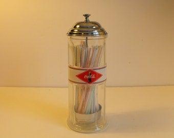 Authentic Coca-Cola Straw Dispenser Chrome Lid    (792)