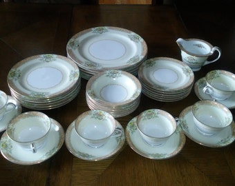 Vintage Noritake China service for 6