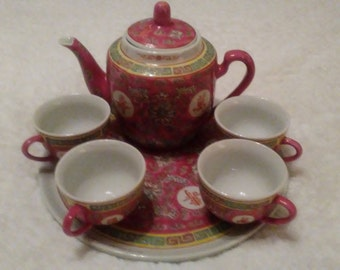 Longevity teapot design made in China/ pink floral