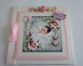 Baby Girl Christening Card