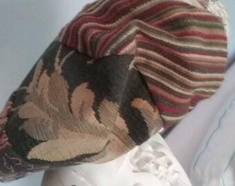 Unique Tam Hat Brocade Quilted
