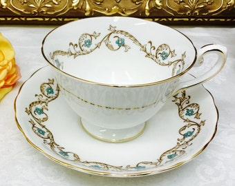 Tuscan teacup and saucer