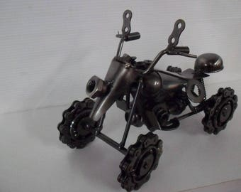 Quad chrome Miniature 4 wheels designed by hand with polished recycled materials