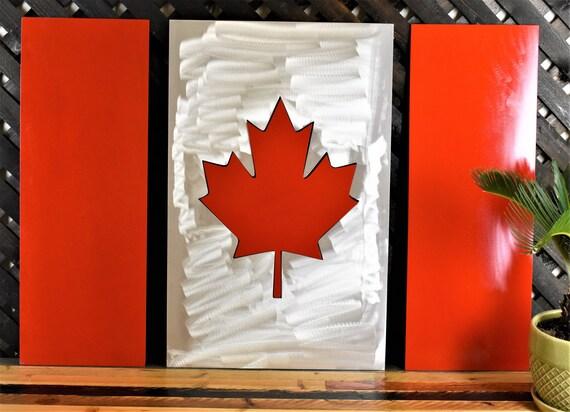 Canadian Flag 4 Piece Flag Canada Flag Canadian Flag Wall
