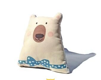 Bear cushion, animal pillow, decorative pillow, bear plush, decorative cushion, kids bedding, kids room decor, kids pillow, baby cushion