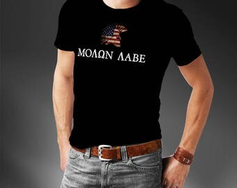 Molon Labe T-Shirt - Come and Take It Gun T-Shirt