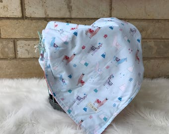 Llama blanket// baby blanket// gender neutral baby blanket// baby shower gift