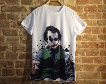T-shirt Joker, T-shirt printing, Sublimation printing, T-shirt Dark Knight, T-shirt Heath Ledger, T-shirt DC comics