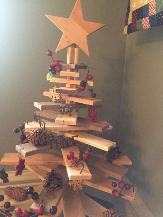 Wooden Christmas Tree With Moveable Rotating Slats