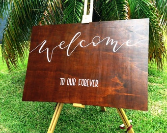 Wood Wedding Sign | Rustic Wedding Sign | Welcome Sign | Wedding Sign | Wedding Signs