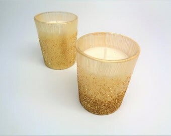 Gold Glitter Ombre Candle Votives