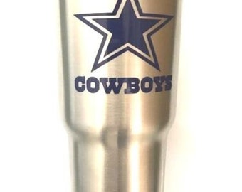 Dallas Cowboys Decal Sticker For Yeti RTIC Ozark Trail Rambler Tumbler Coldster Cooler