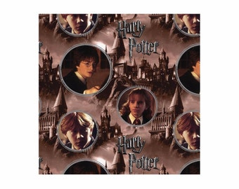 Harry Potter Fabric-Hogwarts and Characters From Camelot