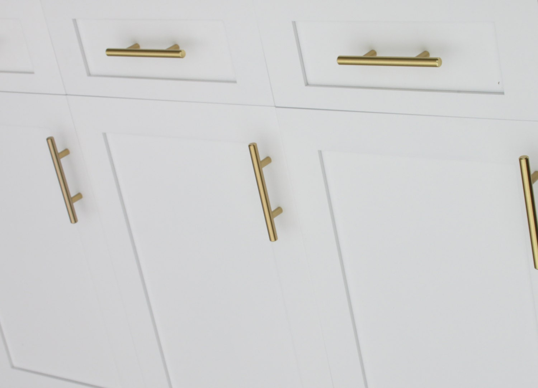 Satin Brass Cabinet Pulls Satin Brass Cabinet Hardware Euro Style Bar Handle Pull 3 Hole