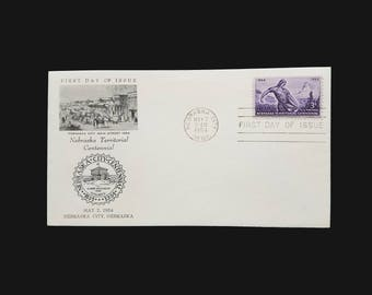 1954 FDC #1060 – 3c Nebraska Territory - 3 cent stamp First Day Issue