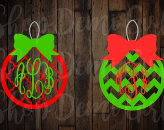 Christmas Ornament SVG File; Digital Download; Christmas Cut Files