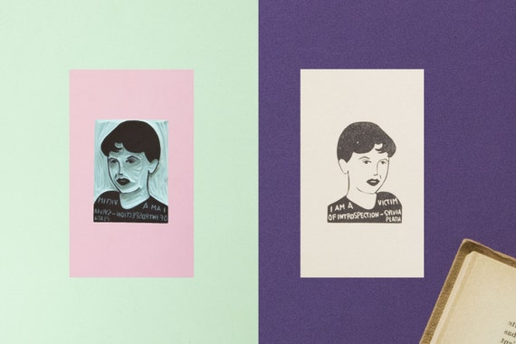 Sylvia Plath Stamp
