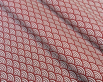 Fabric red sushi - size to 1 quantity 50 cm x 160 cm - 100% cotton