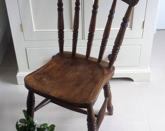 Vintage Spindle Back Chair