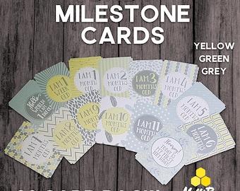 SALE! Baby Milestone Cards. 30 Set. Unisex Baby Milestones. Baby Shower Gift. Newborn Gift. Baby Photo Props. New Baby Cards. Baby Shower