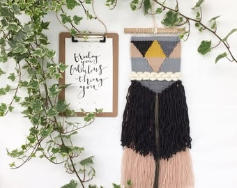 SALE | Mustard | Woven Wall Hanging | Weaving | Tapestry | Wall Art | Fibre Art | Handwoven | Home Decor
