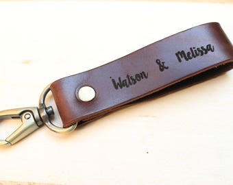 Key chain leathers, Custom Name, Leather Keychain Personalized key ring classic  durable strong key ring high quality material engraved