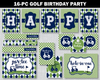 Golf Birthday Party Decor, Golf Birthday Party, Golf Birthday Decorations, Golf Birthday Signs, Golf Cupcake Toppers, BP1001
